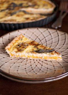 squash, sage and gorgonzola tart #recipe