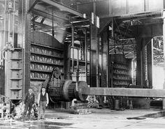 Casting 90 Ton Ingot, Homestead, PA (circa 1893) (University of Pittsburgh)