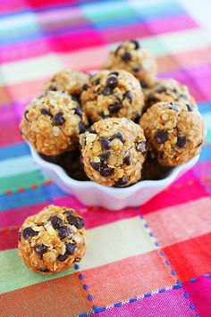 No Bake Granola Energy Bites