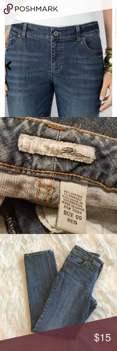 Chico's Platinum Jeans 99% Cotton 1% Spandex - Some Stretch Inseam 30 inches, waist 14 inches Chico's Jeans Straight Leg