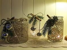 50+ Χριστουγεννιάτικα ΚΗΡΟΠΗΓΙΑ-φαναράκια από γυάλινα ΒΑΖΑ | ΣΟΥΛΟΥΠΩΣΕ ΤΟ
