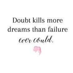 #mondaymotivation for today: Doubt kills more dreams than failure ever could. // Here's a list of incredibly successful people who didn't give up the first time: Walt Disney. JK Rowling. Anna Wintour. Oprah Winfrey. Lucille Ball. Emily Dickinson. The list goes on and on but the moral of the story is they didn't stop trying after the first time, the second time, or even the third, fourth or fifth time. Chase after your dreams as hard as you can. Make this week your best week yet…