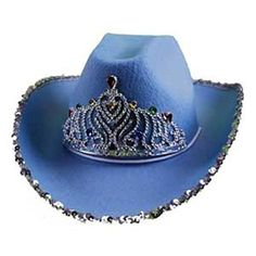 Loftus Rodeo Queen Sequins & Tiara Cowgirl Hat, Blue, One Size Boys Cowboy Hat, Cowgirl Hats, Vintage Fashion 1950s, Vintage Hats, Victorian Fashion, Cowgirl Costume, Skater Girl Outfits, Mad Hatter Hats, Cowboy Party