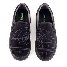 Star Wars - Star Wars Shoes - Ideas of Star Wars Shoes #starwars #shoes #starwarsshoes - Star Wars Vans, Star Wars Shoes, Star Wars Film, Star Wars Gifts, Death Star, Star Wars Collection, Custom Vans, Footwear, Slip On