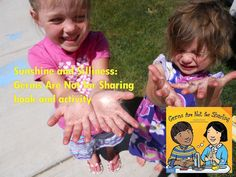 Sunshine and Silliness: Germs Are Not for Sharing, by Elizabeth Verdick - book and activity idea