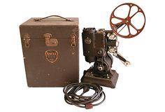 """1930s Ampro Precision Projector w/ Case  1930's 16mm Ampro Precision Projector by The Ampro Corporation of Chicago.  12""""L x 9""""W x 14""""H  ($399.00)  $275.00  OneKingsLane.com precis projector"""