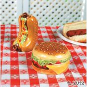 Hot Dog and Hamburger Salt & Pepper Shakers