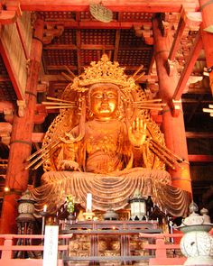 Todaiji Temple (Great Eastern Temple) is located in Japan, in Nara Park. Todaiji was constructed in 752 as the head temple of all provincial Buddhist temples of Japan. Today, the temple serves as the Japanese headquarters of the Kegon school of Buddhism.
