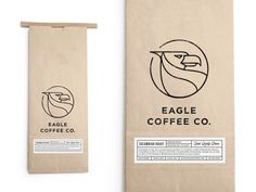 Eagle Coffee Bag by Salih Kucukaga https://dribbble.com/shots/2097492-Eagle-Coffee-Bag #zeeenapp