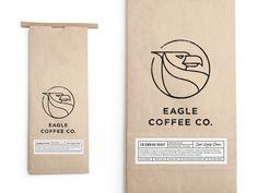 Eagle Coffee Bag by Salih Kucukaga https://dribbble.com/shots/2097492-Eagle-Coffee-Bag #zeeenapp