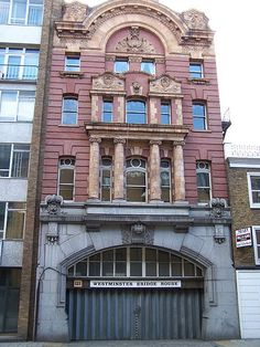 The building at 121 Westminster Bridge Road is all that remains of the London terminus of the London Necropolis Railway, which transported coffins and mourners from London to the London Necropolis Company's Brookwood Cemetery.