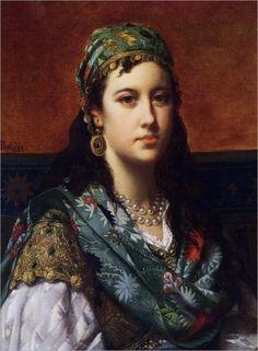 Jan Frederik Pieter Portielje (dutch,1829-1908) - An oriental beauty