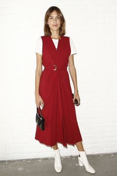 Alexa Chung attending the Proenza Schouler Spring 2017 Ready-to-Wear Fashion Show Front Row