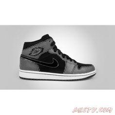 Chaussures Air Jordan Homme Air Jordan 1 Retro Haute Noir Laser Blanc Polka  Dot