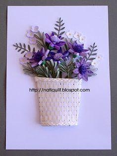 NatiQuill Blog: Cesta de Flores