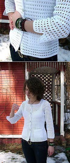 W interesting crochet jacket with simple patterns + video. Crochet Lace Dress, Crochet Jacket, Knit Crochet, Crochet Hats, Crochet Girls, Crochet Baby Clothes, Fillet Crochet, Summer Knitting, Knit Fashion