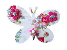 Kapstok vlinder voor in een meisjeskamer. Sooo cute. www.kids-ware.nl