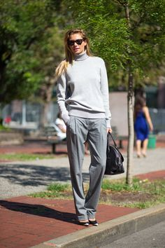 Jessica Hart. Yesterday's #NYFW street style was full of chic looks. See the best here: