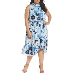 Midi Dress Plus Size, Eliza J Dresses, Dresses For Work, Summer Dresses, Women Sleeve, Nordstrom Dresses, Vince Camuto, Casual, Floral