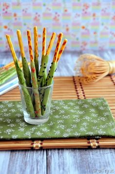 Check out how to make Homemade Matcha (Green Tea) Pocky with video tutorial.  http://uTry.it @utryit
