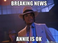 Breaking News Annie Is Ok Funny Michael Jackson Meme Image