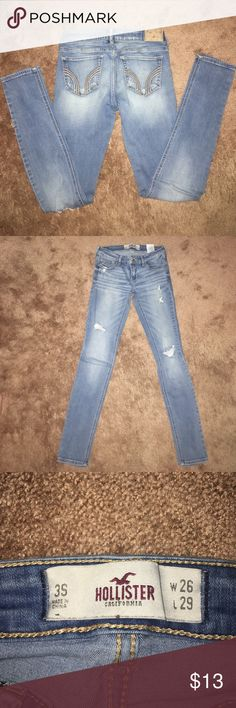 Hollister skinny Hollister stretchy skinny 3s W26 L29 smoke free home Hollister Jeans Skinny