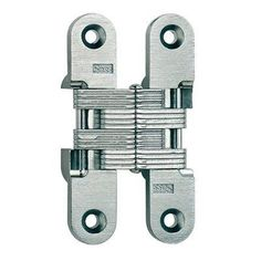 Soss 212 Full Inset Invisible Cabinet Door Hinge With 180 Degree Opening  Angle   Satin Chrome