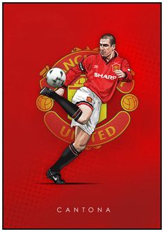 Football Legends on Behance Manchester United Poster, Manchester United Wallpaper, Manchester United Legends, Manchester United Players, Football Themes, Best Football Team, Football Art, Football Players, Eric Cantona