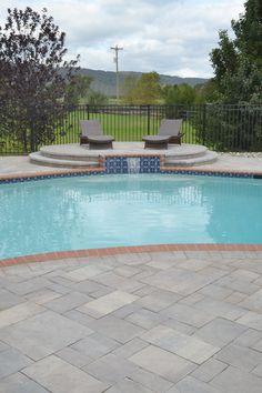Inviting Cst Slate Stone Pool Deck And Veranda Wall Both In Brandywine Ultrabelle Color Pool