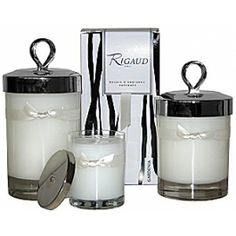 RIGAUD CANDLES PARFUMS RIGAUD is one of the oldest perfumers and dates back to the early 19th century. Rigaud Candles offer soft, even burning wax and the classic silver snuffer lid.