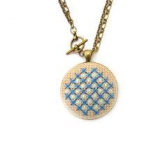 #Personalized #Wedding Cross Stitch Necklace by Zelma Rose   Hatch.co