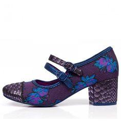 Irregular Choice 'Mini Mod', brocade mary jane pump, purple