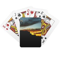 Sunset La Sal Mountains Viewpoint Arches National Poker Deck
