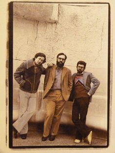 """keyframedaily: """"Steven Spielberg, Francis Ford Coppola and George Lucas. """" Spielberg, Coppola, and Lucas here looking fresh as they model the Autumn 1975 catalogue. Film Images, Rare Images, Gena Rowlands, Michelangelo Antonioni, Francis Ford Coppola, Faye Dunaway, George Lucas, Claudia Cardinale, Paul Newman"""