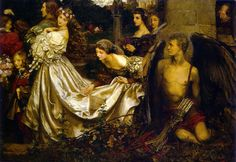The Uninvited Guest, 1906 by Eleanor Fortescue-Brickdale (English, 1872 – 1945)