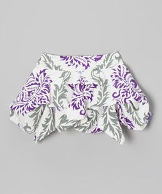 Look what I found on #zulily! Purple & White Damask Handkerchief Skirt - Toddler & Girls by Trish Scully Child #zulilyfinds