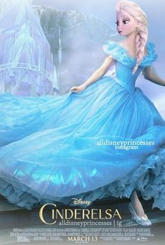 This is a really beautiful poster someone made. The look of the combo of Elsa and Cinderella is so beautiful! I love it. <3
