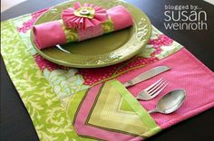 Quilted Placemat Patterns with Pocket