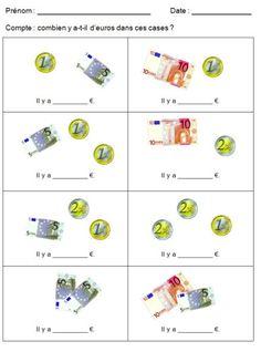 la monnaie - problème - l'euro   Exercices de Maths CP ...