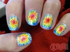 awesome tie-dye nails!
