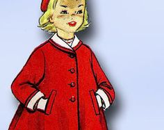 1940s Girls Flared back Housecoat Simplicity 2601 by sandritocat
