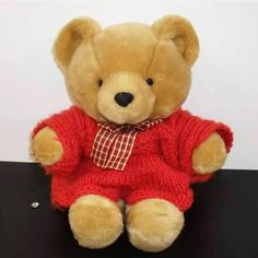 Found on 26 Jun. 2016 @ Keswick, Cumbria. A brown bear wearing a red knitted dress was handed in at Booths Supermarket in Keswick. Visit: https://whiteboomerang.com/lostteddy/msg/furzs3 (Posted by Amanda on 07 Jul. 2016)