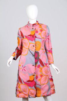 1960s Bill Blass Floral Coat image 2