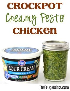 Crockpot Creamy Pesto Chicken Recipe! ~ from TheFrugalGirls.com ~ go grab your Slow Cooker and get ready for the most delicious Chicken Dinner!! #slowcooker #recipes #thefrugalgirls