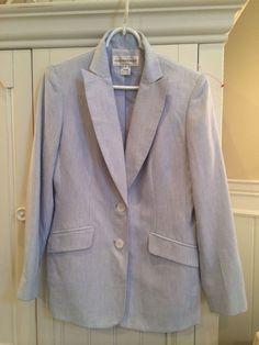 Seersucker Suit Women's Size 6 Jones New York #JonesNewYork #PantSuit