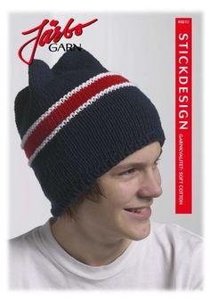 90272. Slätstickad mössa med rand Knitted Hats, Beanie, Knitting, Cotton, Threading, Tricot, Breien, Stricken, Weaving