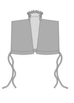 Free partlet pattern - shows 4 different ways of wearing a partlet
