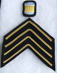 Padded embroidered arm badge and gold braid rank chevron as shown. Drum Major, British Army, Badges, Drums, Braid, Chevron, Gold, Ebay, Badge