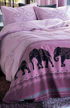 Purple Elephant duvet cover.