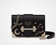 ddc66c99afc6 PRADA Cahier in silver and black Saks  10% off